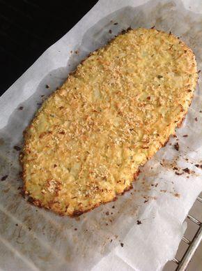 "Bloemkool ""brood"" of pizza. Koolhydraatarm, gluten vrij - recept"