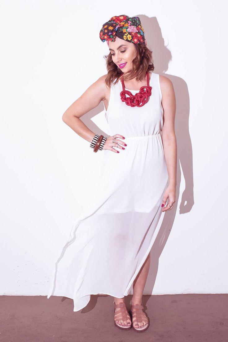 Fantasia de baiana feita em casa, com vestido branco!!! Looks de Carnaval.