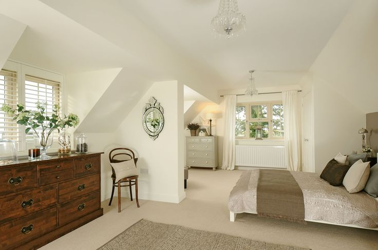 Attic Bedroom in Farrow & Ball Wimbourne White.
