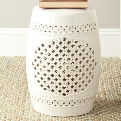 Add Some Classic Style To You Indoor Or Outdoor Garden With The Safavieh  Paradise Gardens Cream Ceramic Garden Stool. This X Ceramic Garden Stool  Can Be ...