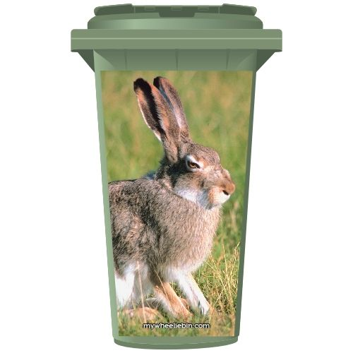 Grumpy Bunny Rabbit Wheelie Bin Sticker Panel