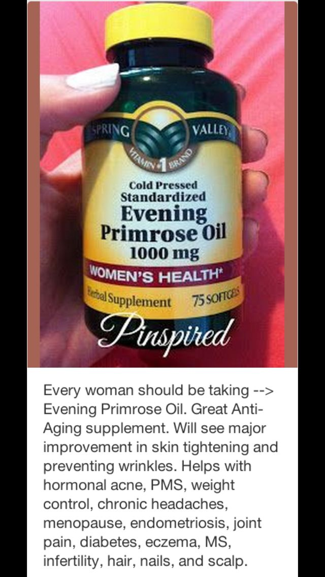 Evening primrose oil benefits