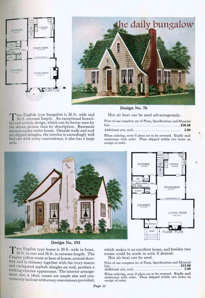 266 Best Images About Vintage Home Plans On Pinterest