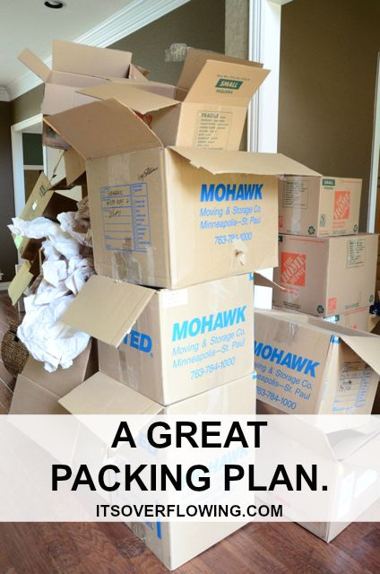 Is a move in your future? Useful Moving Tips and a Packing Schedule from It's Overflowing