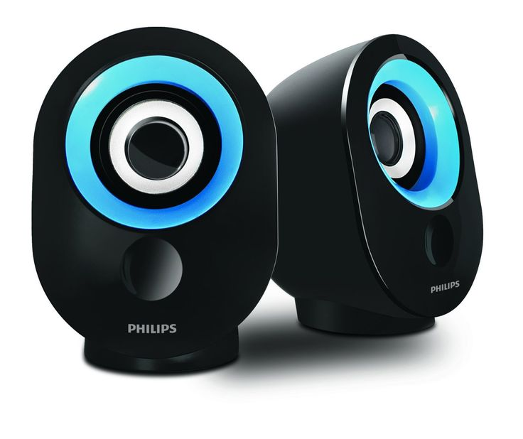 Philips SPA-502.0 speaker with USB Plug (Blue)