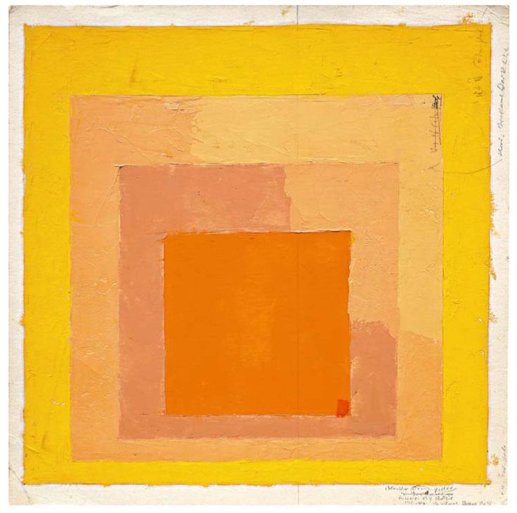 ALBERS, Josef Albers (1888–1976). «Color Study for Homage to the Square», sin fecha. Óleo y grafito sobre papel. 30.5 x 30.5 cm. The Josef Albers Museum Quadrat Bottrop, inv. no. 9/433. Fotografía: Werner J. Hannappel