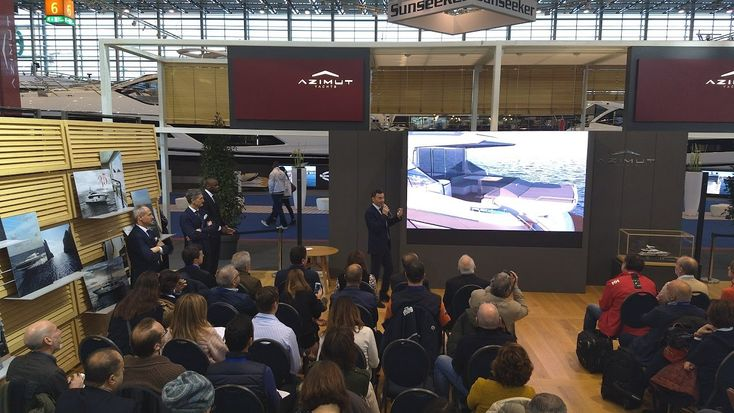Exciting news: Marco Valle, Azimut Yachts CEO and Federico Lantero, #AzimutYachts Brand Manager presented the new #Azimut55, #Atlantis51 and #AzimutS6 at the Dusseldorf 2018 Press Conference.   #ChicAttitude #nextproject #technology #PressConference #Luxury