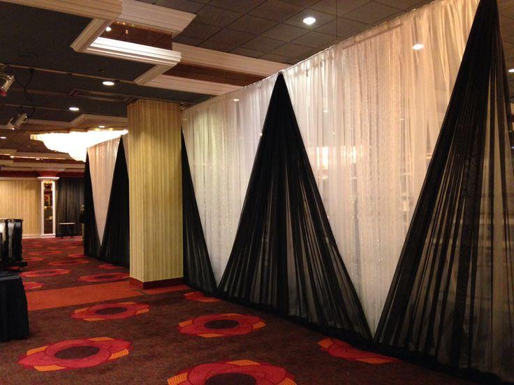 40'x14' drape for a head table at a wedding. Tiara ballroom, Taj Mahal hotel casino , in AC, NJ