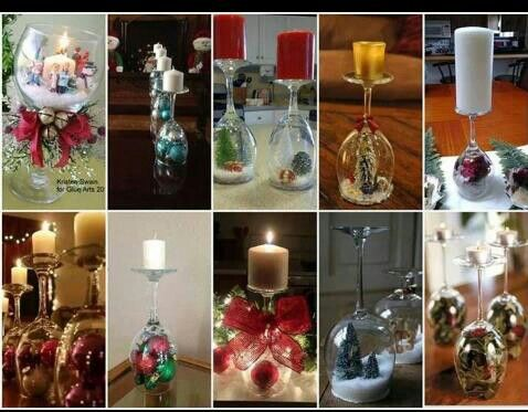 Goblet Snowglobe Centerpieces Craft Ideas Pinterest