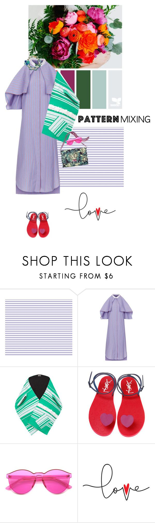 """""""Stay Bold: Pattern Mixing"""" by vilen ❤ liked on Polyvore featuring Rosetta Getty, Miu Miu, Biarritz, ZeroUV, Louis Vuitton and patternmixing"""