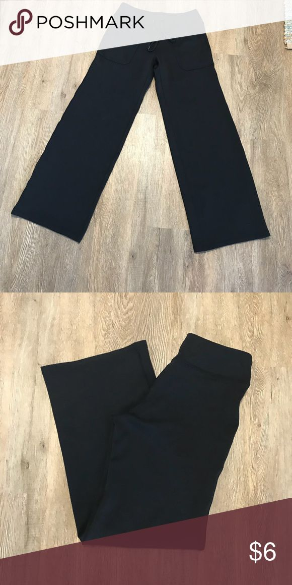 New York & Company Sport Pants Black comfortable workout/ lounge pants. Very soft pants that tie in the front with pockets. Worn very little! Size small. New York & Company Pants Track Pants & Joggers