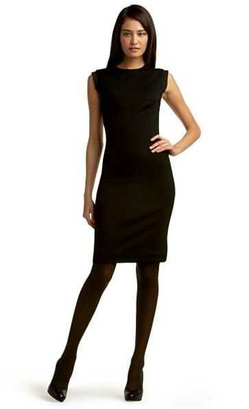 black dress with black tights - Bing Images