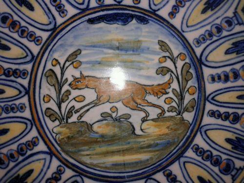 Antico piatto fine 800 soggetto rinascimentale marchio e firma Signa Montelupo in Arte e antiquariato, Porcellana e ceramica, Piatti commemorativi | eBay