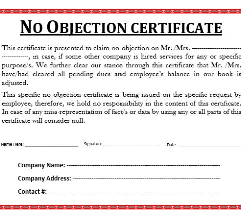 No-Objection-Certificate