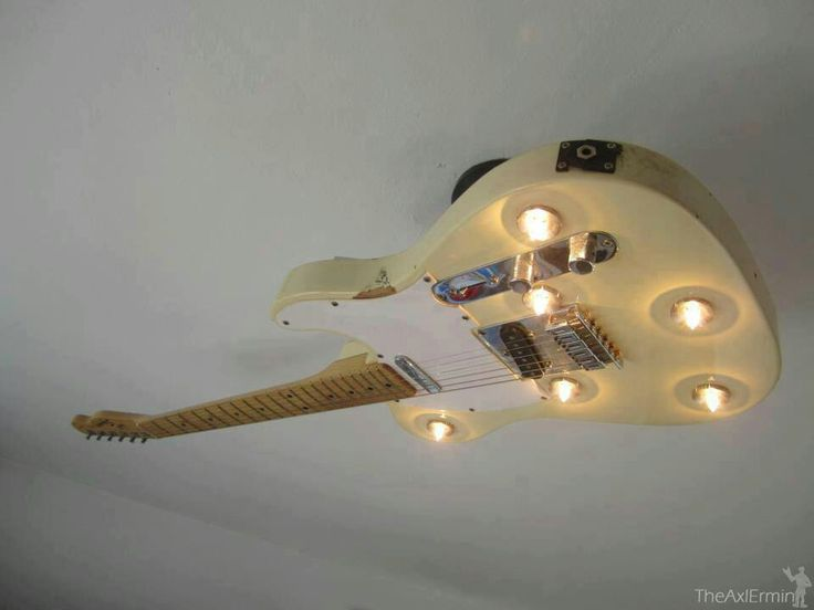 - Guitar Ceiling Light. #music #interiors #guitar #decor #musicinteriors http://www.pinterest.com/TheHitman14/music-interiordecor-%2B/