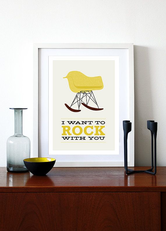 Yumalum on Etsy Eames poster print Mid Century Modern vintage chair by yumalum, $29.00