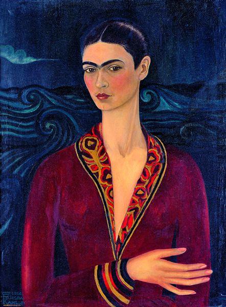 Frida Kahlo: Self portrait with Velvet Dress, 1926 © García Formentí y Asociados Arquitectos S.C, Città del Messico, by SIAE 2014