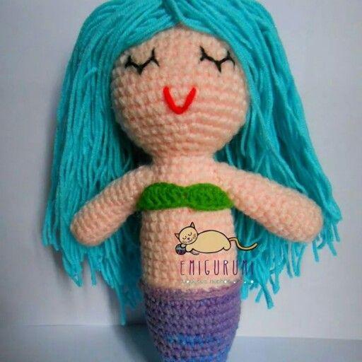 #sirena #amigurumi #hechoamano #crochet # #chile #knitting #handmade #toy #kids