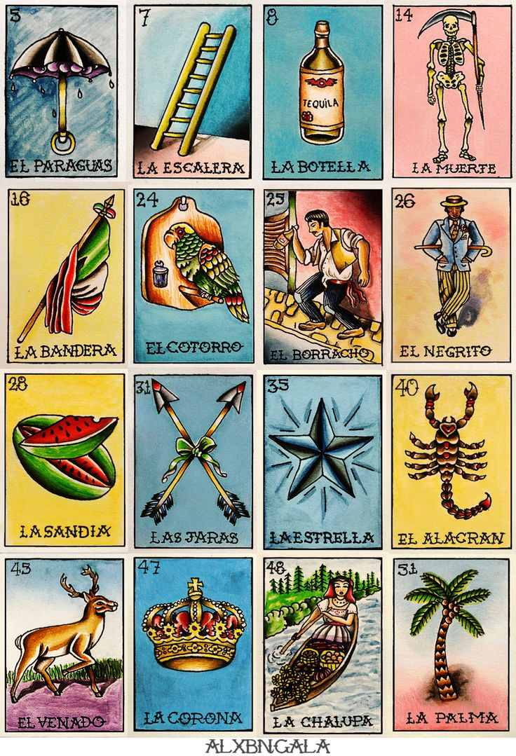 194 best images about la loteria on pinterest for Bingo tattoo ideas