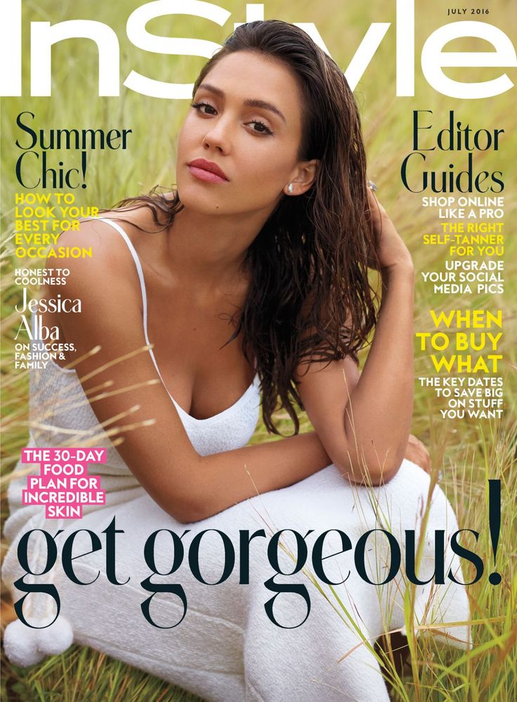 Jessica Alba - Instyle Magazine  July 2016 Cover and Pics