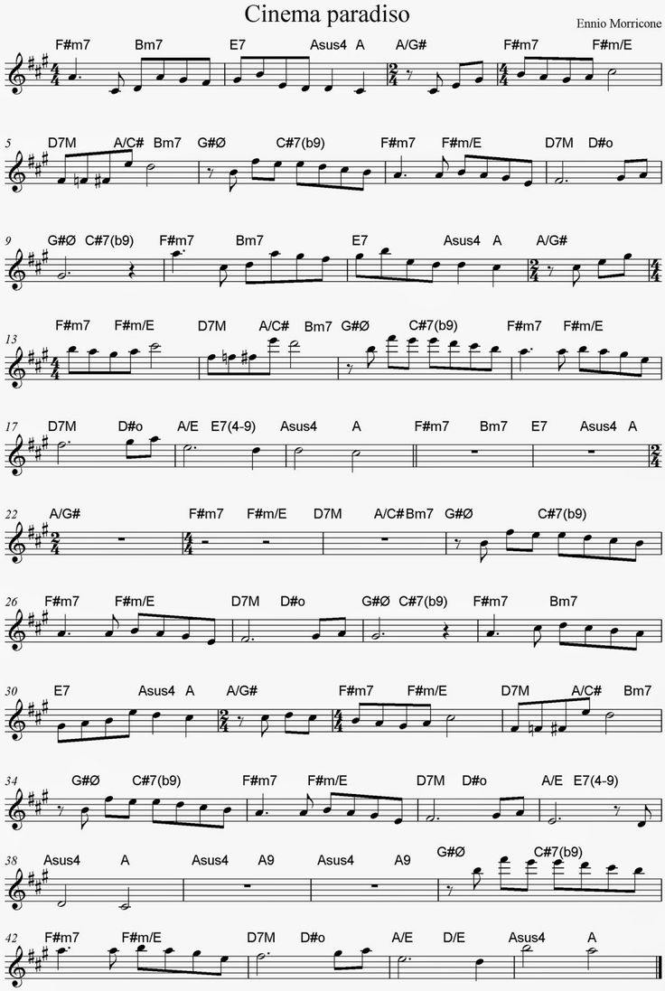 1431 best disney world music images on pinterest diy bird partitura de cinema paradiso con acordes sheet music and chords hexwebz Choice Image