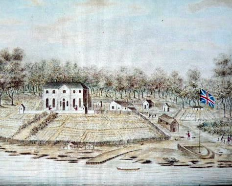 The Governor's House at Port Jackson, Sydney 1791 by William Bradley