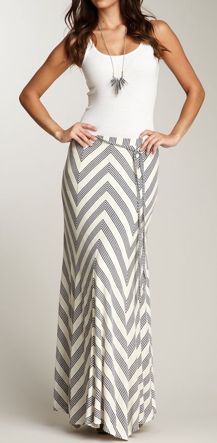 Chevron maxi skirt / ella moss
