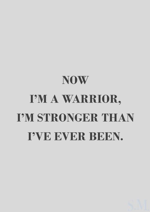 I never lost faith ... I was weak but now I'm strong ..