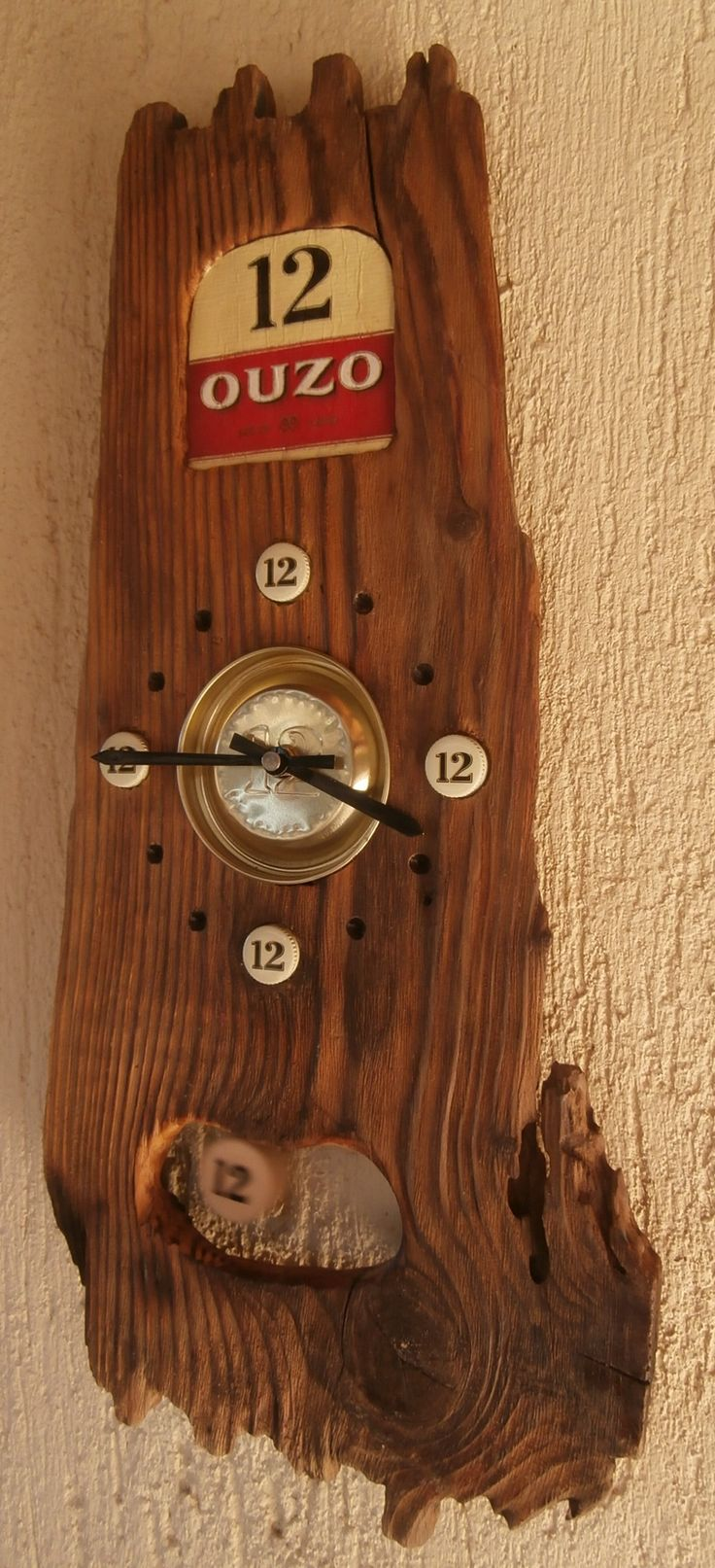 63 best driftwood upcycled clocks images on pinterest driftwood ouzo 12 brand clock amipublicfo Image collections