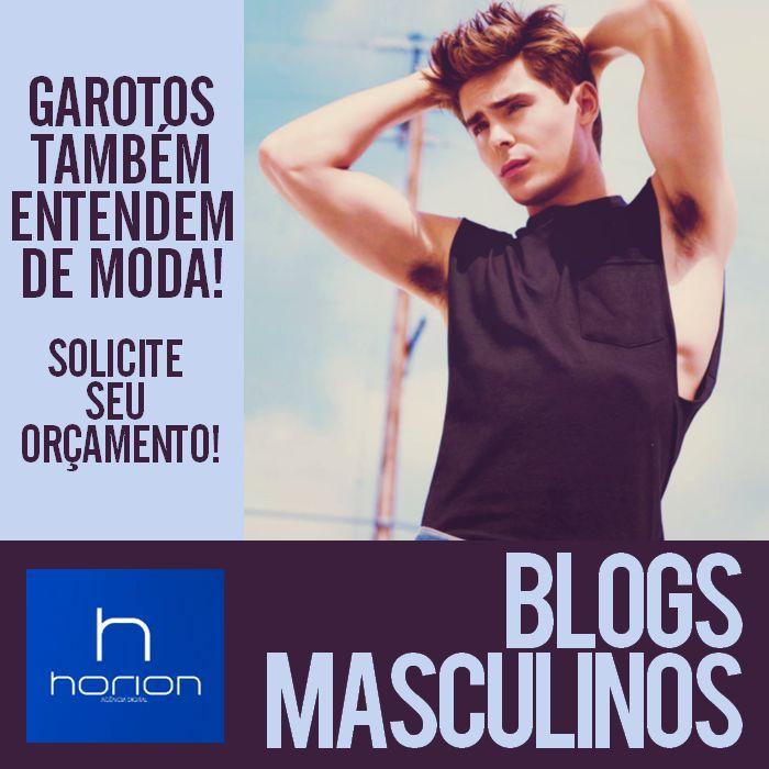 Blogs Masculinos // Estilo e Ousadia // Encomende o seu! // agenciahorion.com.br