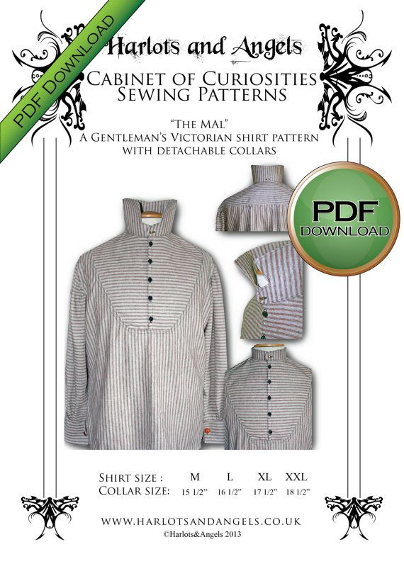 Every Gentleman needs a fine collection of shirts and here at Harlots & Angels we have crafted a sewing pattern to allow to make your very own.
