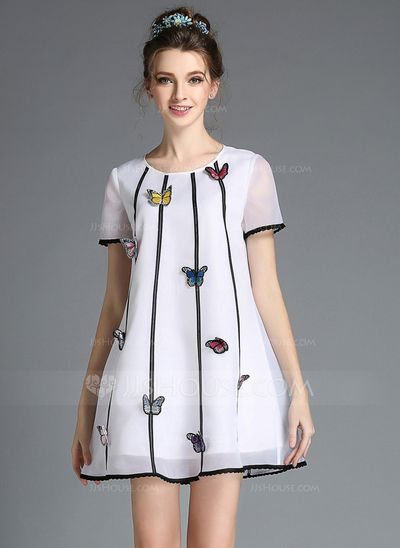[US$ 55.59] Organza With Embroidery Mini Dress (199086735)