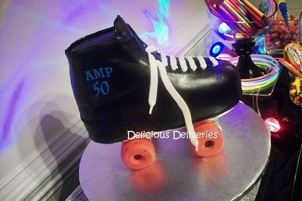Roller Skate Cake  Cake by DeliciousDeliveries