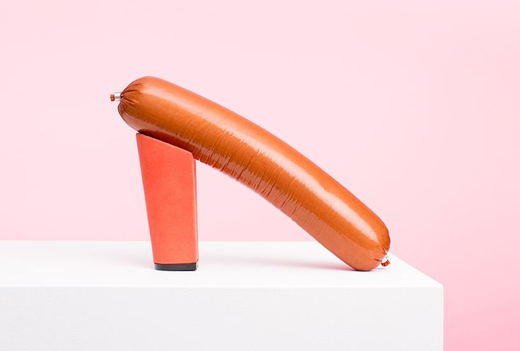 PUTPUT turns ordinary objects, from hot dogs to hair, into sculptural shoes
