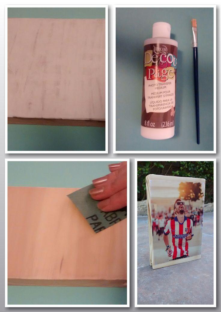 Transferencia de imagen en papel folio a madera con gel medium