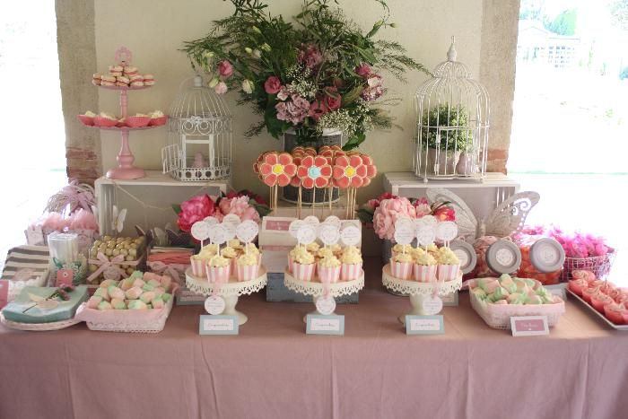 Pin de mar a o silva en comuni n para nenas pinterest - Decoracion de mesas de chuches para comunion ...