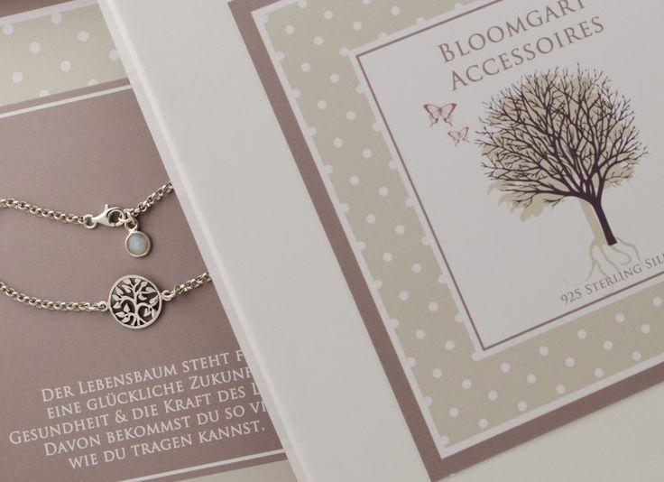 Silberarmbänder - ARMBAND LEBENSBAUM 925 SILBER MIT GESCHENKBOX - ein Designerstück von Bloomgart bei DaWanda