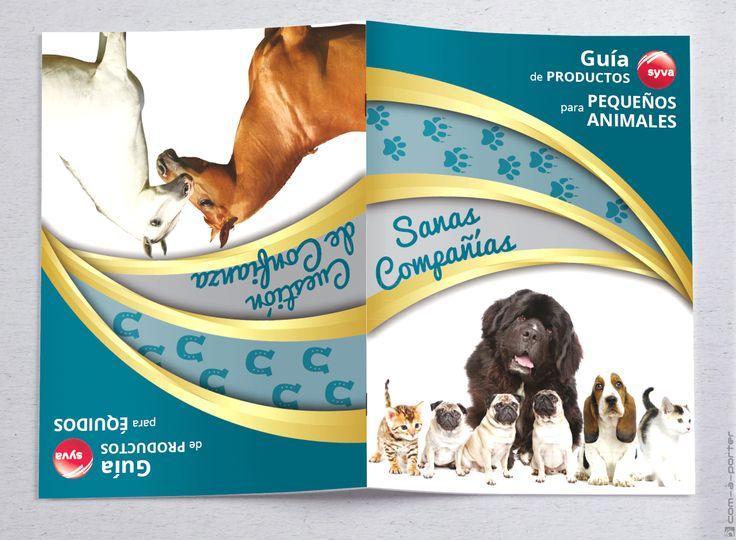 Maquetación de Guía de Productos de Animales (Compañía y Équidos) de Laboratorios Syva