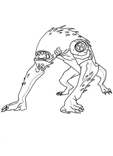 Ben 10 Coloring Pages Ghostfreak Cartoon Pinterest