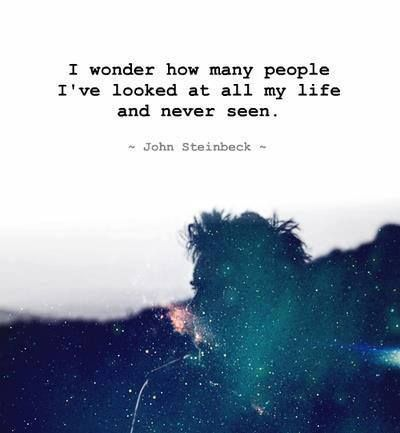 Reminds me of his novels 'of mice and men ' and 'the grapes of wrath' John Steinbeck has a special eye and heart for the minority in the society, he notices people who are usually ignored. Something us contemporary people can really learn from.