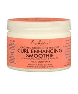 Shea Moisture Curl Enhancing Smoothie. distribute evenly to damp/wet hair. This is a great replacement for a styling/gel you would normally put on your hair as the finishing touch to natural curls. It's the last thing i put on my curls.
