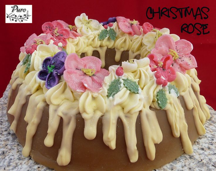 Christmas Rose Soapcake - available as slices
