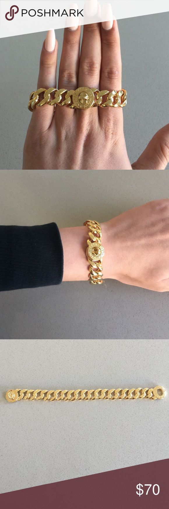 Gold Marc Jacobs bracelet Gold chain link Marc Jacobs bracelet. Great condition. Only been worn a handful of times Marc by Marc Jacobs Jewelry Bracelets