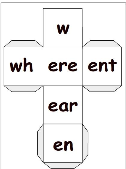 Literacy dice generator