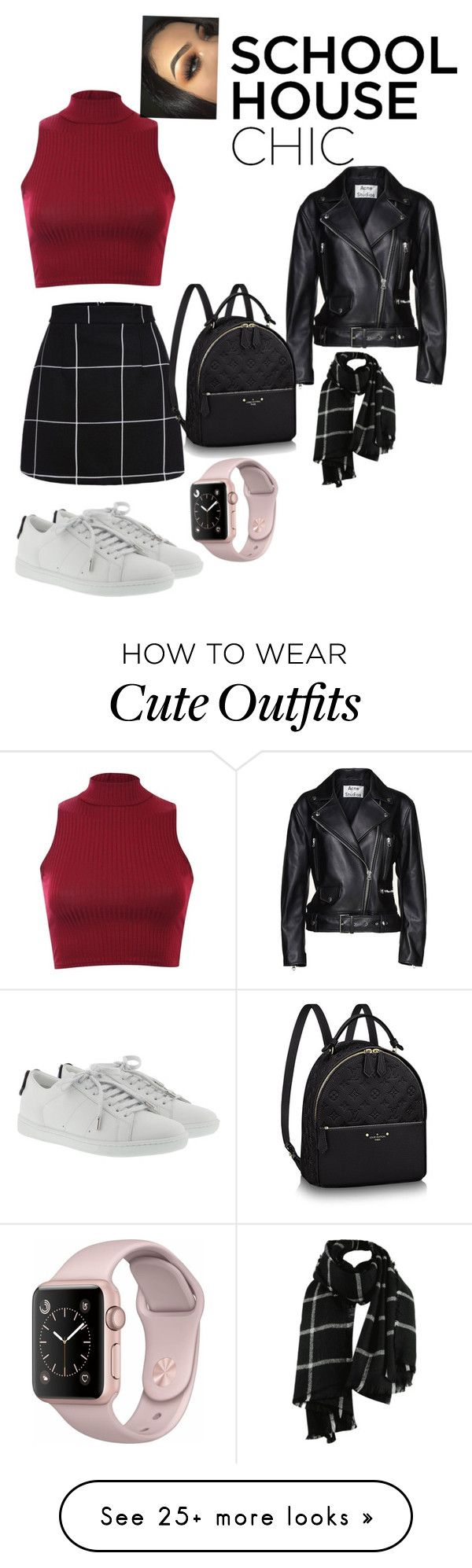 """""""Typical school cute outfit"""" by hallerowee on Polyvore featuring Pilot, Acne Studios and Yves Saint Laurent"""
