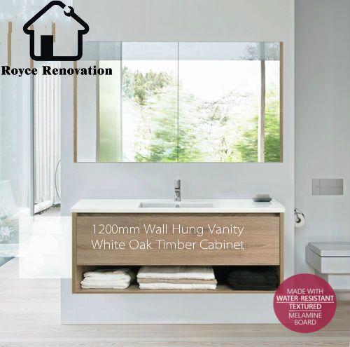 1200mm-White-Oak-Timber-Bathroom-Vanity-Wood-Textured-Finish-Wall-Hung $780