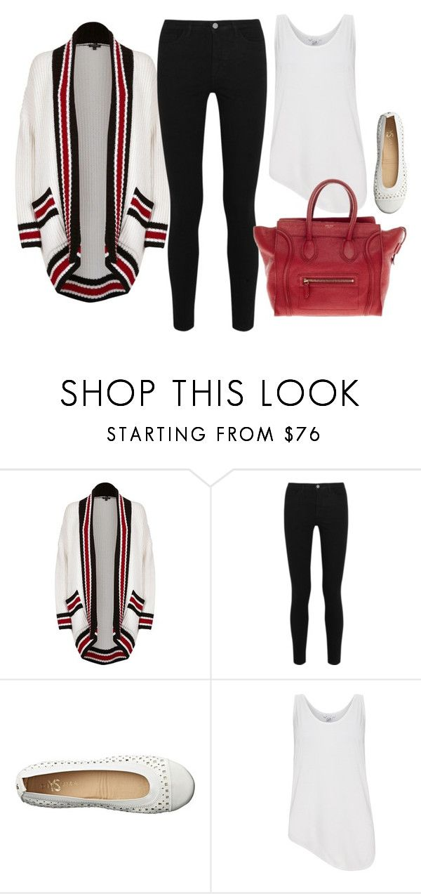 """""""Canada Day 150 Outfit """" by coolchick1630 ❤ liked on Polyvore featuring River Island, Victoria, Victoria Beckham, Yosi Samra, Helmut Lang and CÉLINE"""