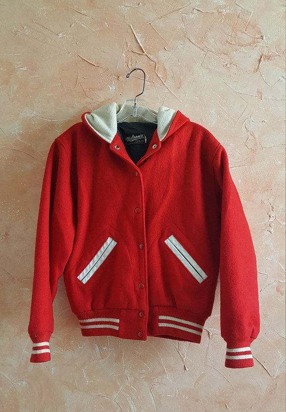 51f101589 Red Varsity Jacket Vintage Letterman College Jacket Personalized ...