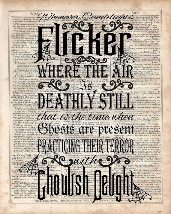 Haunted Mansion Quote Dictionary Art Print by MySilhouetteShoppe