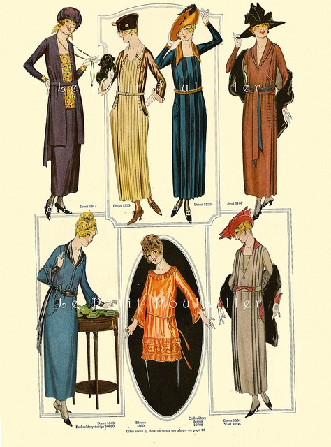 1919 Delineator Magazine (Butterick), 79 by Le Petit Poulailler, via Flickr